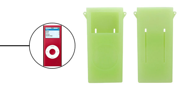 Protective Silicone Skin Case for iPod Nano 2nd G w/ ears