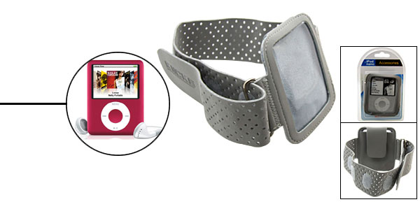 Sports Armband Case Holder for iPod Nano 3G Gray