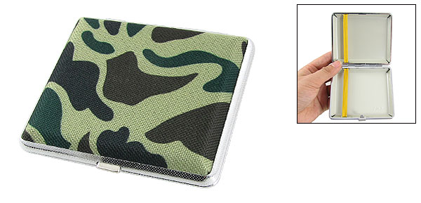 Camouflage Pattern Nylon Fabric Coated Case Holder for 18 Cigarettes