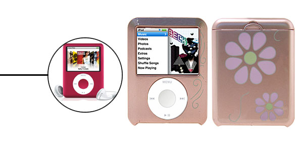 Pink Plastic Protector Case for iPod Nano 3G