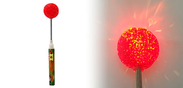 X'mas Christmas Twinkle Ball Lamp Party Rattle Stick Red
