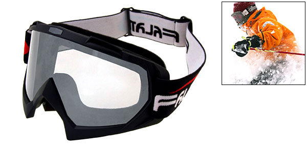 Transparent Lens Ski Snowboard Skate Sports Goggles Glasses -NV1316