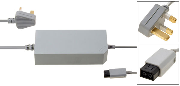 UK Plug Charger Adapter for Nintendo Wii 100V-240V