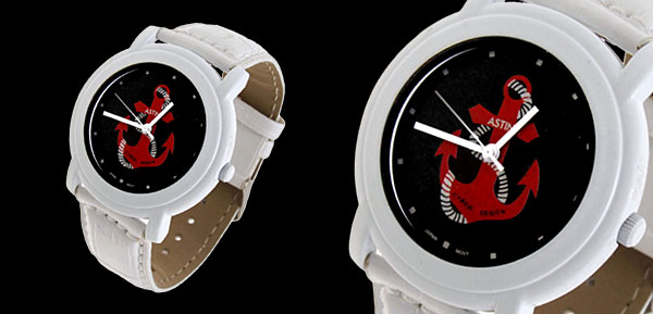 Fashion Jewelry Anchor Symbol White Band Quartz Watch