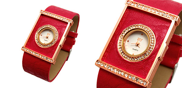 Fashion Jewelry Classic Ladies Wrist Fashion Watches Red