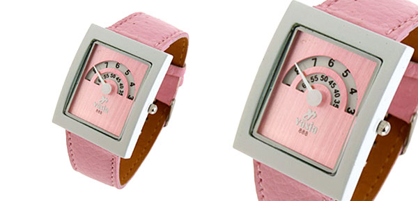 Fashion Jewelry Double Arch Display Ladies Wrist Fashion Watches Pink