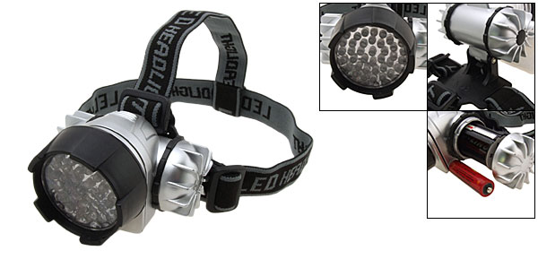 44 White LED Head Flashlight Headlamp with Head Strap