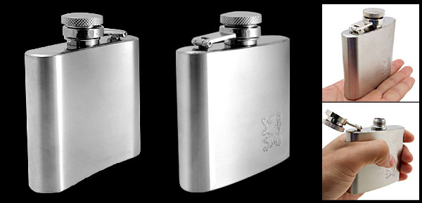 Travelling Liquor Whiskey Wine Bottle Stainless Steel Pocket Hip Flask 70g