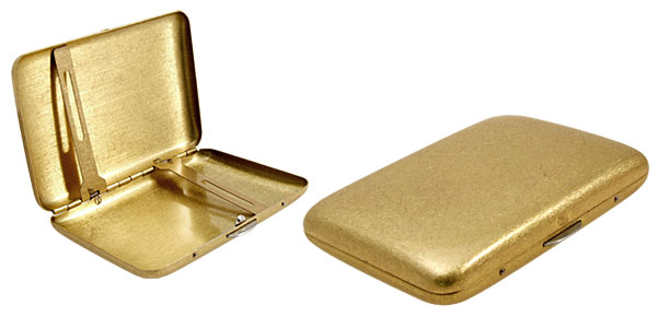 Golden Case Holder for 16 Pieces Cigarette