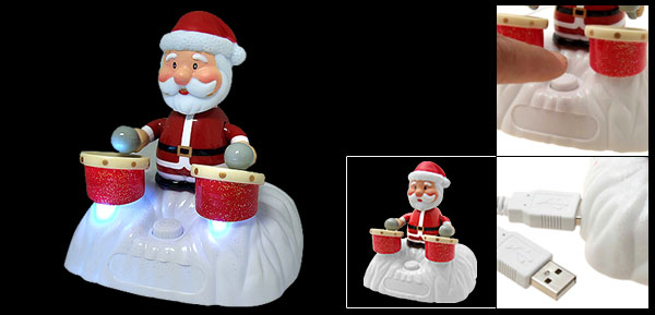 Santa Claus Drummer USB Singing Toy