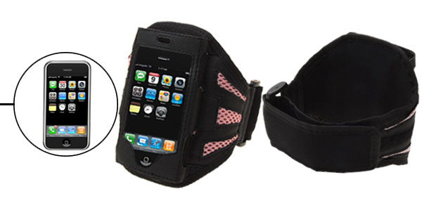 Washable Sports Black & Pink Armband Case for  iPod iPhone 1st Generation