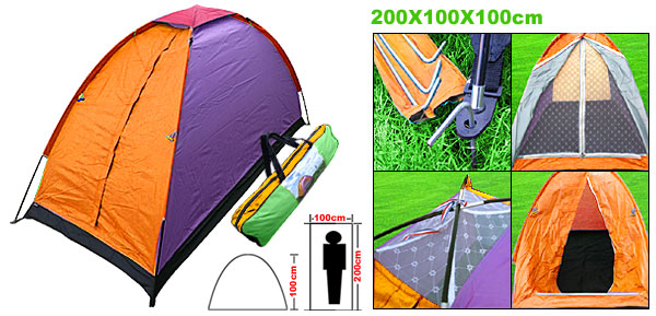 Outdoor Beach Camping One Person Tent Ultralight with Bag