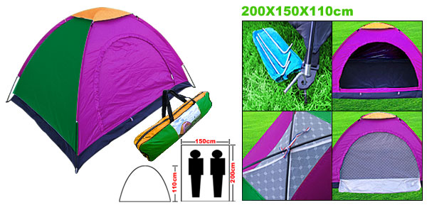 2-3 Person Camping Camp Tent Rain Cover Stuff Bag Couple Family Dome