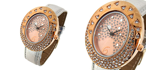 Fashion Jewelry Golden Egg Watchcase Ladies Quartz Wrist Fashion Watches Silvery
