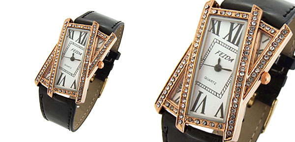 Crossover Ladies Quartz Wrist Fashion Watches Black