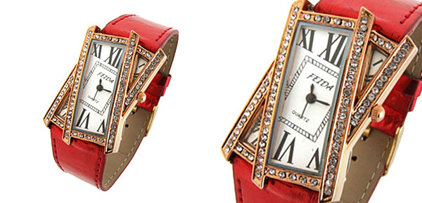 Crossover Ladies Quartz Wrist Fashion Watches Red