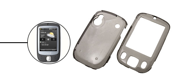 Plastic Crystal Case Transparent Gray for Dopod S1