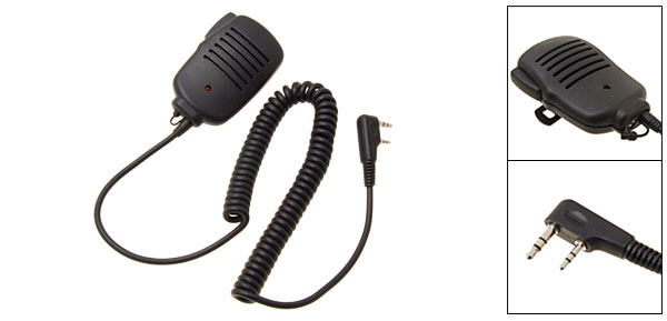 Handheld PTT Speaker Mic For KENWOOD Radio 2 Terminal
