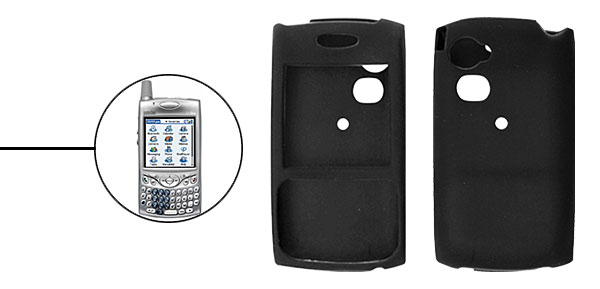 Black Silicone Skin Case for Palm Treo 650