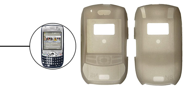 Gray Silicone Skin Case for Palm Treo 680 750v