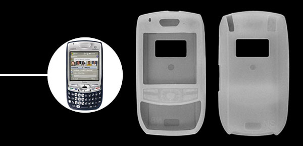 White Silicone Skin Case for Palm Treo 680 750v
