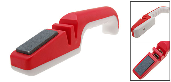 Kitchen Tool - Red & White Cutter Sharpener