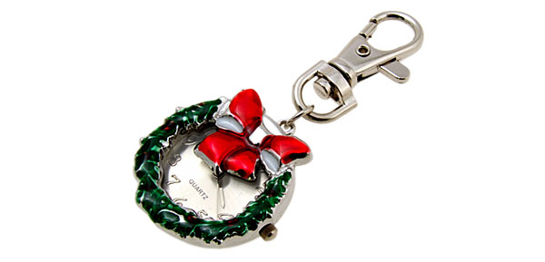 Christmas Anadem Quartz Fashion Key Chain Key Ring Watch