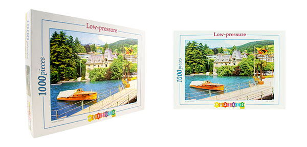 Toys- Educational European Lakeside Jigsaw Puzzles DIY Deck Designs