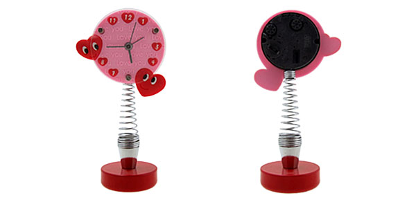 Pink Fashion Unique Cute Heart Style Desk Clock