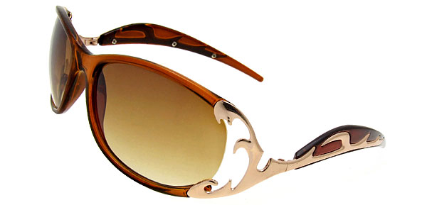 Wave Lady Fashion Brown Sunglasses