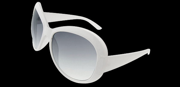 Angel Lady Fashion White Sunglasses