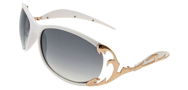 Wave Lady Fashion White Sunglasses
