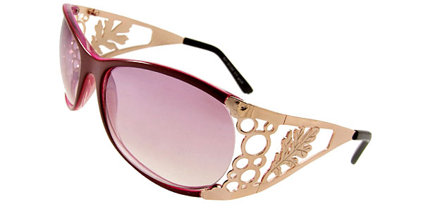 Wave Lady Fashion Purple Sunglasses