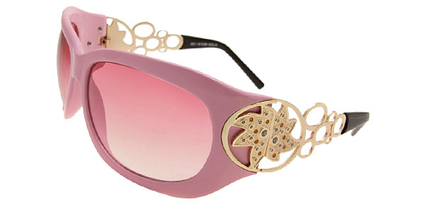 Wave Lady Fashion Pink Sunglasses
