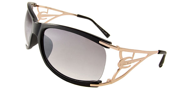 Wave Lady Fashion Black Sunglasses