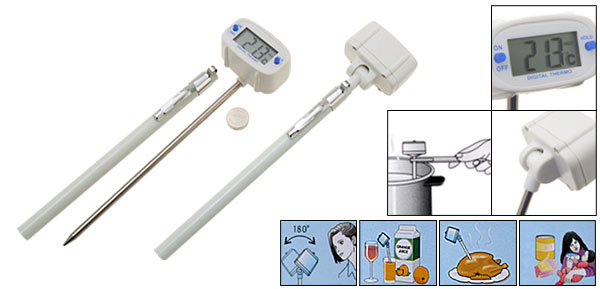 Instant  LCD Read Digital Thermometer with Swivel Head for Test Meat Food Drink