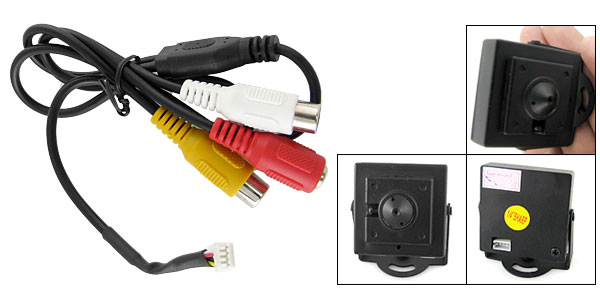 Wired 1/4 Sharp Color Super CCD CCTV Camera PAL