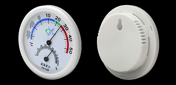 Brand New Mini In-out Doors Centigrade Thermometer & Hygrometer White