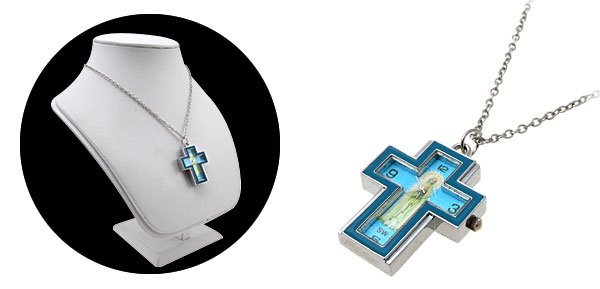 Fashion Jewelry Madonna Cross Blue Necklace Watches