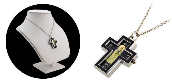 Fashion Jewelry Madonna Cross Black Necklace Watches