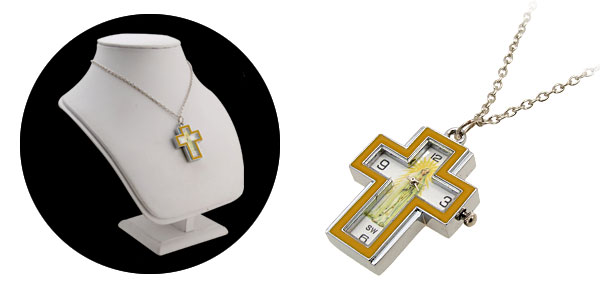 Fashion Jewelry Madonna Cross Yellow Necklace Watches