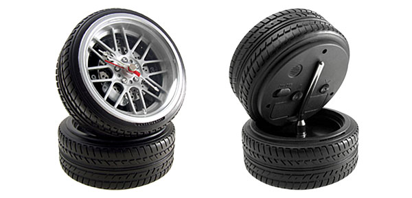 Black Auto Racing Tire Tires Wheel Clock For The Racing Auto Fan