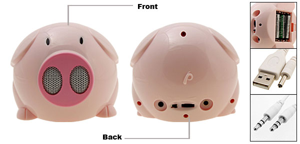 BOBO Pig Multimedia Radio Speaker Box For MP3 Mobile Phone