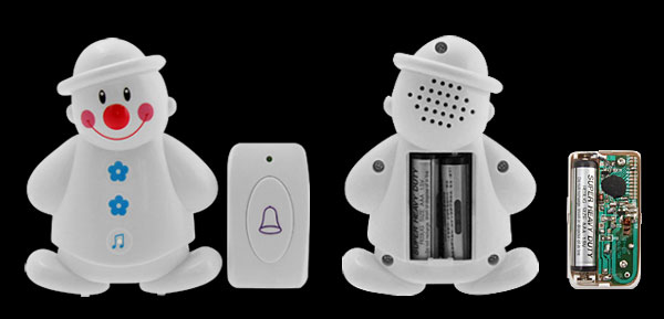 Wireless Snowman Digital Sound Doorbell With 25 Pieces Of Electronic Songs
