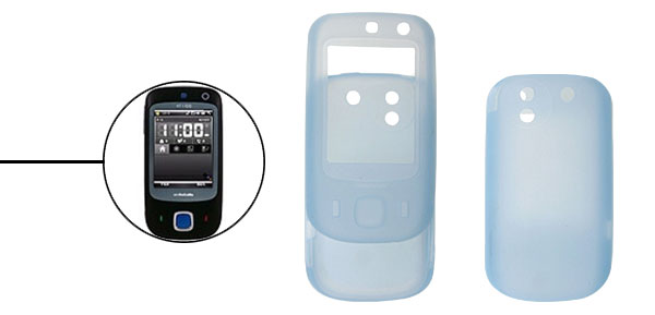 Baby Blue Silicone Case Cover For HTC Touch Dual
