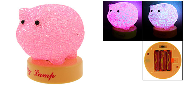 Pink Fancy Gorgeous Lovely Piggy Lamp