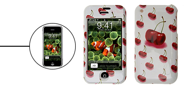 Plastic Protector Hard Case for Apple iPhone 1st Generation Cherry