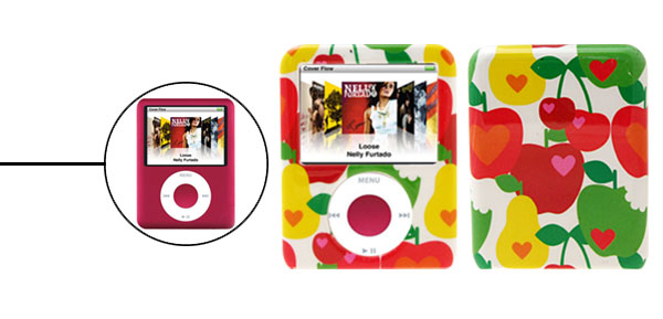Fruit Colorful Plastic Protector Hard Case for  iPod Nano 3G