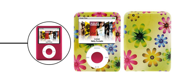 Spring Flower Plastic Protector Hard Case for iPod Nano 3G