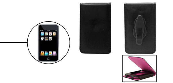 Black Leather Protector Case For Apple iPod Touch 1st Generation